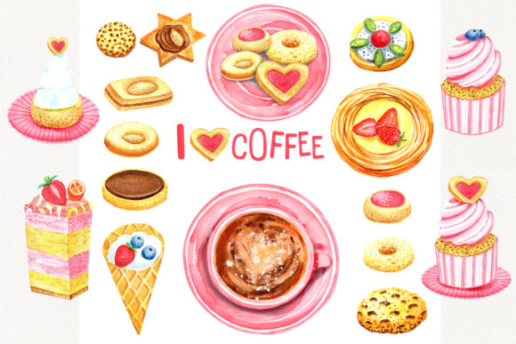 Print on Demand: Sweet Cookies Graphic Illustrations By evgenia_art_art - Image 2