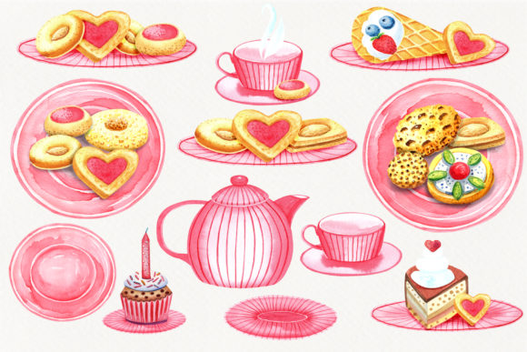 Print on Demand: Sweet Cookies Graphic Illustrations By evgenia_art_art - Image 3