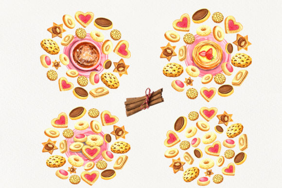 Print on Demand: Sweet Cookies Graphic Illustrations By evgenia_art_art - Image 6