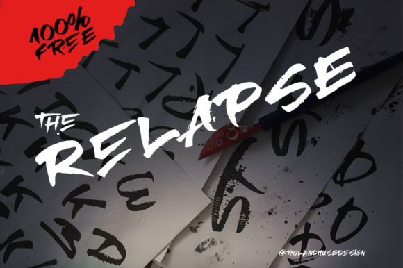 Print on Demand: The Relapse Script & Handwritten Font By Creative Fabrica Freebies