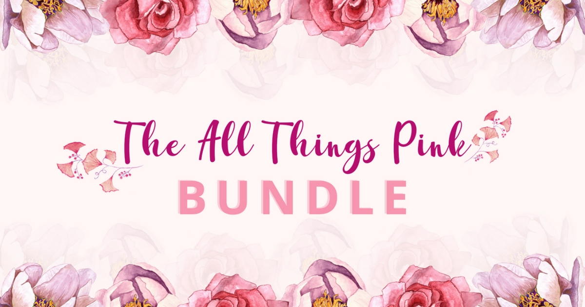 Download Free The All Things Pink Bundle Bundle Creative Fabrica for Cricut Explore, Silhouette and other cutting machines.