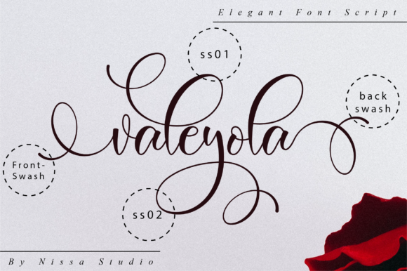 Print on Demand: Valeyola Script Script & Handwritten Font By NissaStudio - Image 10