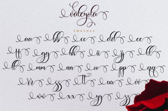 Print on Demand: Valeyola Script Script & Handwritten Font By NissaStudio - Image 12
