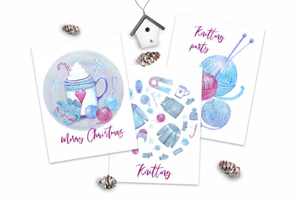 Print on Demand: Watercolor Cosy Winter Graphic Illustrations By evgenia_art_art - Image 5