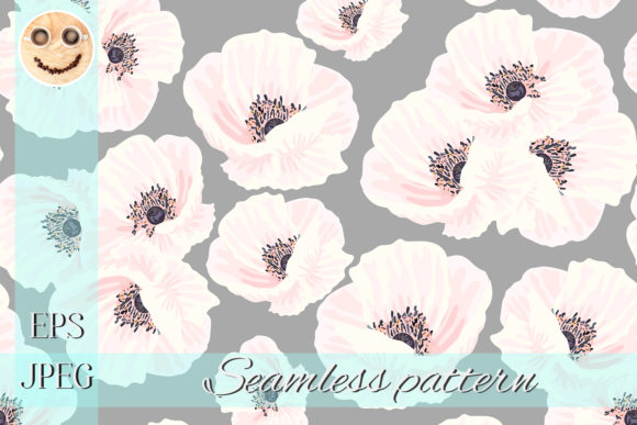 Print on Demand: White Anemones Graphic Patterns By TasiPas