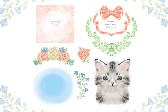 Сute Baby Cat Clipart Graphic Illustrations By NataliMyaStore - Image 2