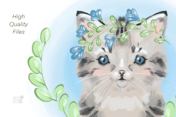 Download Free Sute Baby Cat Clipart Graphic By Natalimyastore Creative Fabrica for Cricut Explore, Silhouette and other cutting machines.