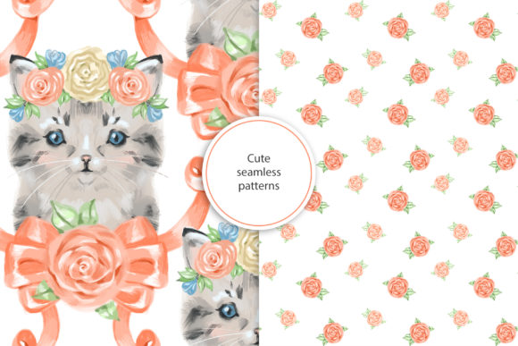 Сute Baby Cat Clipart Graphic Illustrations By NataliMyaStore - Image 4