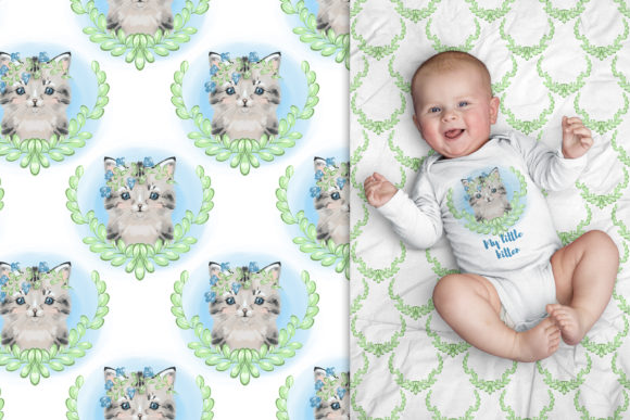Сute Baby Cat Clipart Graphic Illustrations By NataliMyaStore - Image 5