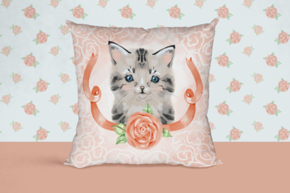 Сute Baby Cat Clipart Graphic Illustrations By NataliMyaStore - Image 6