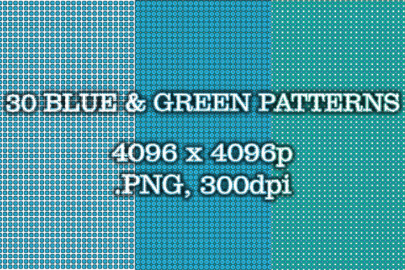 30 Blue and Green Patterns Graphic Patterns By vessto