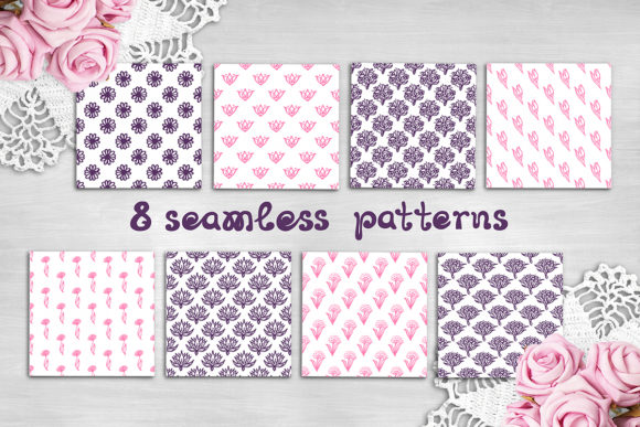 8 Mother's Day Seamless Patterns Graphic Patterns By AV Design