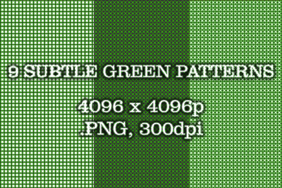 9 Subtle Green Patterns Graphic Patterns By vessto