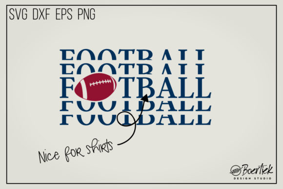 Download Free American Football Graphic By Boertiek Creative Fabrica for Cricut Explore, Silhouette and other cutting machines.