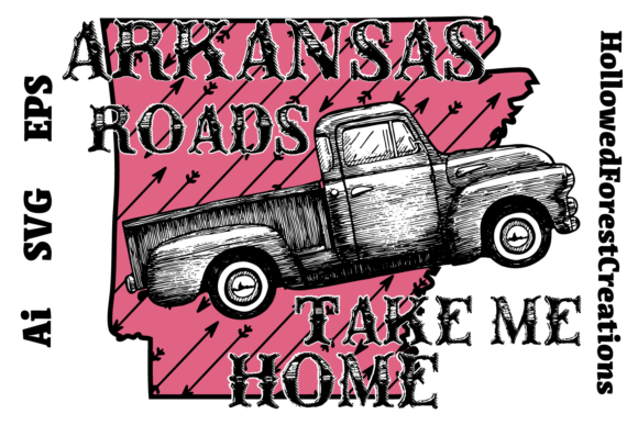 Download Free Arkansas Roads Graphic By Hollowedforestcreations Creative Fabrica for Cricut Explore, Silhouette and other cutting machines.