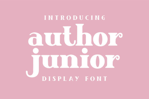 Print on Demand: Author Junior Display Font By Caoca Studios