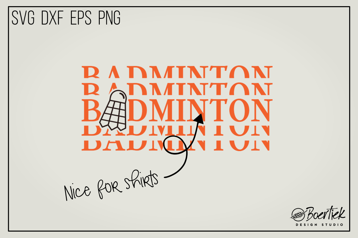 Download Free Badminton Graphic By Boertiek Creative Fabrica for Cricut Explore, Silhouette and other cutting machines.