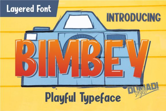Print on Demand: Bimbey Display Font By DUMADI - Image 1