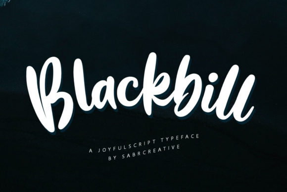 Print on Demand: Blackbill Display Font By sabrcreative
