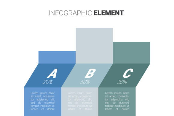 Print on Demand: Blue and Gray Infographic Graphic Infographics By kokostd