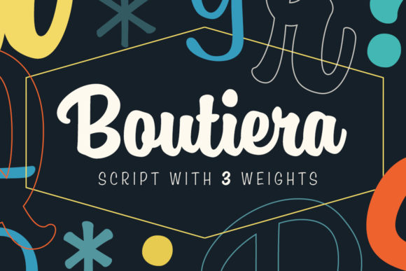 Print on Demand: Boutiera Script & Handwritten Font By melvasmika