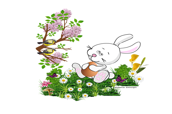 Print on Demand: Bunny in Spring Graphic Illustrations By arts4busykids