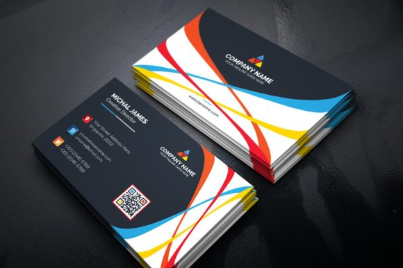 Download Free Business Card Graphic By Curvedesign Creative Fabrica for Cricut Explore, Silhouette and other cutting machines.