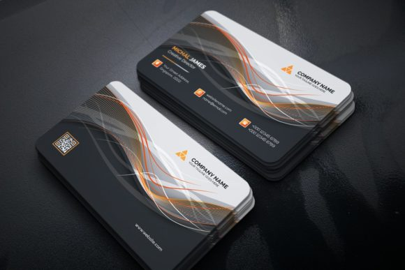 Print on Demand: Business Card Graphic Print Templates By curvedesign