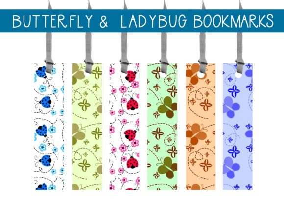 Print on Demand: Butterfly & Ladybug Bookmarks    #1 Graphic Illustrations By capeairforce