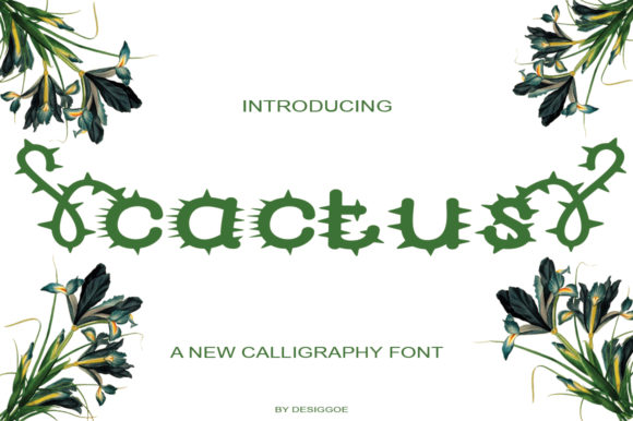 Download Free Cactus Font By Designgoe Creative Fabrica for Cricut Explore, Silhouette and other cutting machines.