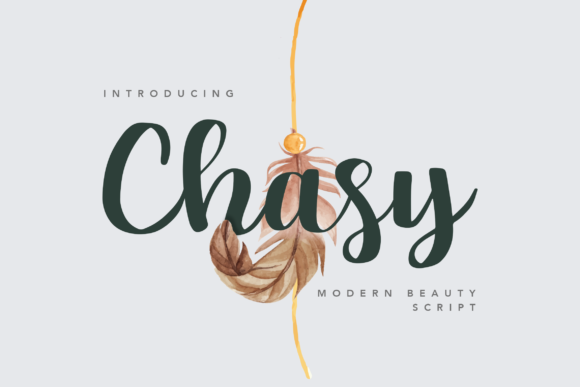 Print on Demand: Chasy Script & Handwritten Font By peterdraw