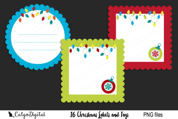 Download Free Christmas Labels And Tags Graphic By Catgodigital Creative Fabrica for Cricut Explore, Silhouette and other cutting machines.