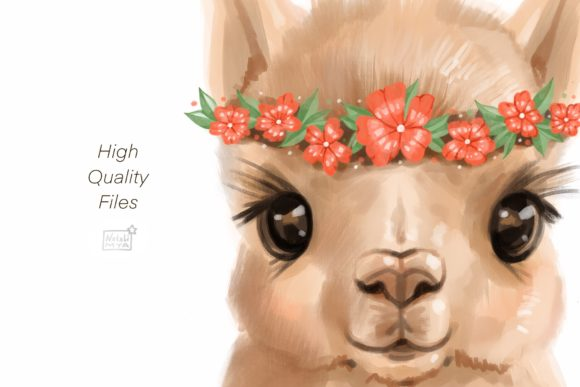 Cute Alpaca Clipart Graphic Illustrations By NataliMyaStore - Image 3