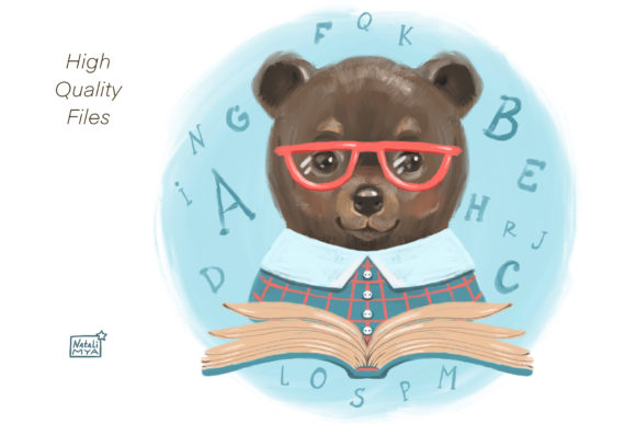 Cute Bear Cliparts Graphic Illustrations By NataliMyaStore - Image 3