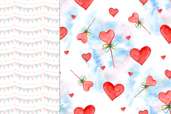 Cute Valentine's Day Digital Papers Graphic Patterns By NataliMyaStore - Image 2