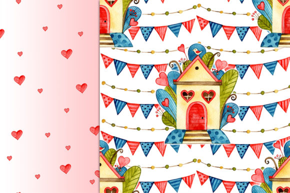 Cute Valentine's Day Digital Papers Graphic Patterns By NataliMyaStore - Image 5