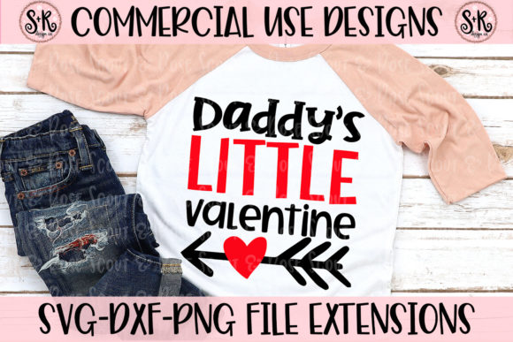 Print on Demand: Daddy's Little Valentine Graphic Crafts By Scout and Rose Design Co