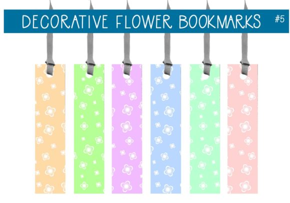 Print on Demand: Decorative Flower Bookmarks   #5 Graphic Illustrations By CapeAirForce
