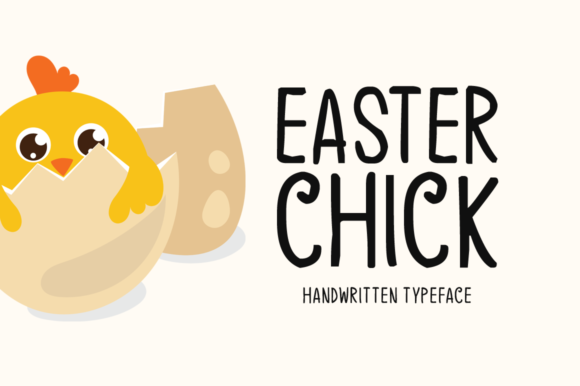 Print on Demand: Easter Chick Display Font By Instagram Fonts - Image 1