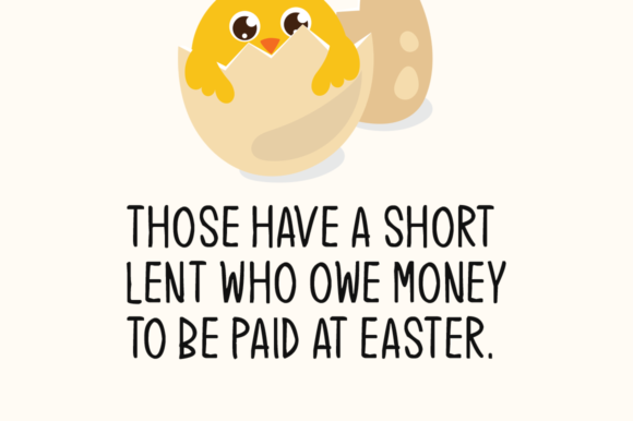 Print on Demand: Easter Chick Display Font By Instagram Fonts - Image 2