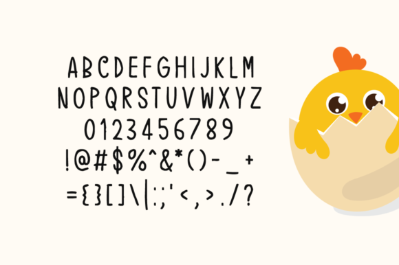 Print on Demand: Easter Chick Display Font By Instagram Fonts - Image 4