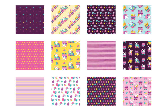 Print on Demand: Easter Train Graphic Patterns By Prettygrafik - Image 2