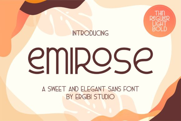 Print on Demand: Emirose Sans Serif Font By ergibi studio