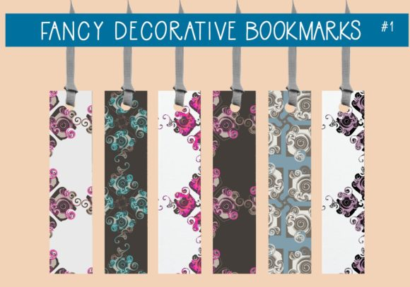Print on Demand: Fancy Decorative Bookmarks    #1 Graphic Illustrations By capeairforce