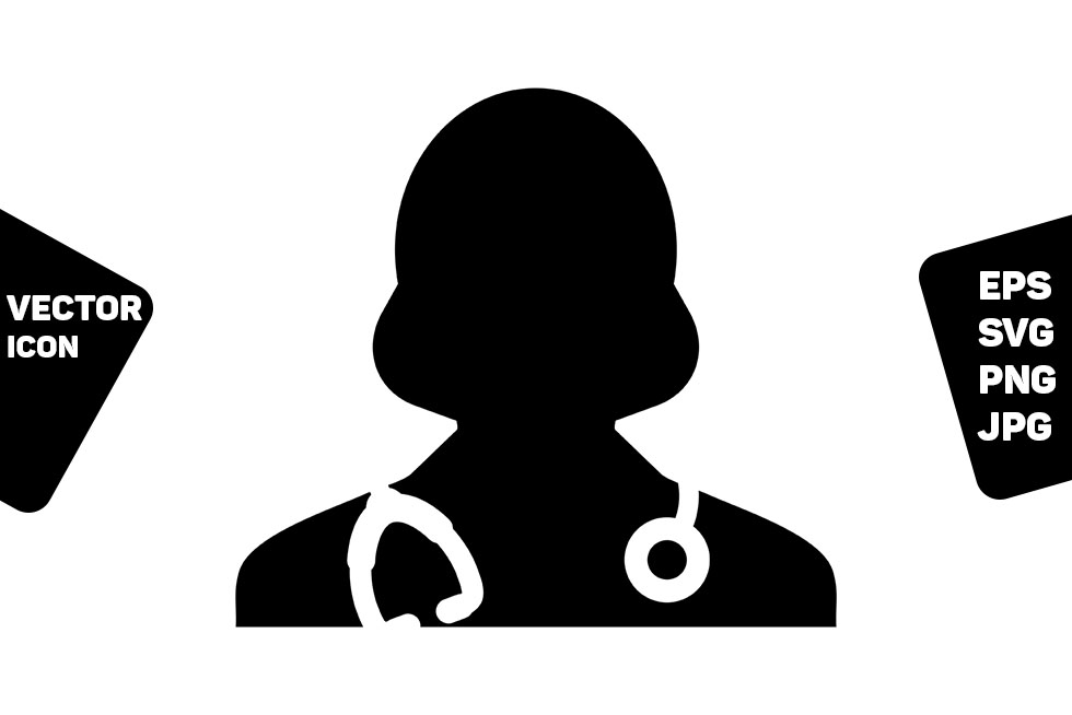 Download Free First Aid Icon Vector Female Doctor Graphic By Tuktuk Design for Cricut Explore, Silhouette and other cutting machines.