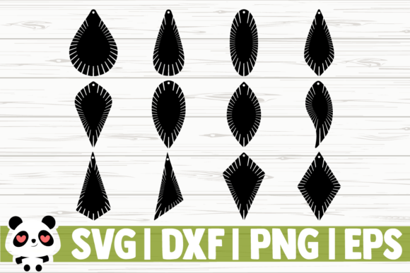 Print on Demand: Fringe Earrings Teardrop Designs Graphic Illustrations By CreativeDesignsLLC