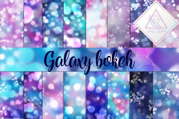 Print on Demand: Galaxy Bokeh Digital Paper Graphic Backgrounds By fantasycliparts