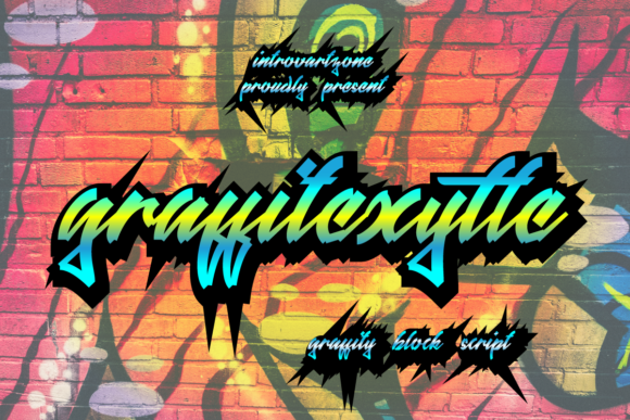Print on Demand: Graffitexytte Display Font By IntrovArtZone