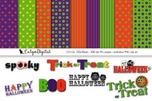 Download Free Halloween Scrapbooking Graphic By Catgodigital Creative Fabrica for Cricut Explore, Silhouette and other cutting machines.