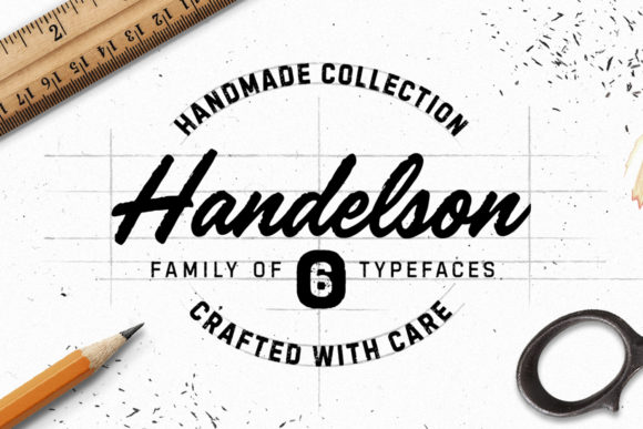 Print on Demand: Handelson Script & Handwritten Font By melvasmika